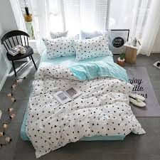 geometric patterns bedding set bed sheet duvet cover pillowcases kids full queen twin king size bedding 3 home textiles embroidered duvet cover striped