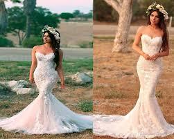 Wedding Dress Designs For Ladies New Arrival Mermaid Wedding Dresses Designer Sweetheart Fishtail Appliques Vestidos De Novia Vintage Boho For Women 2018 Mermaid Gown Plus Size Bridal