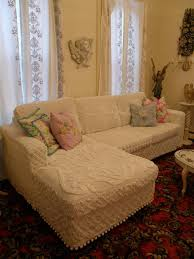 shabby chic furniture nyc. Shabby Chic Slipcovered Sectional White Vintage Chenille Bedspreads Eclectic-living-room Furniture Nyc I
