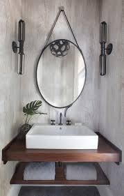 bathroom with tropical modern details