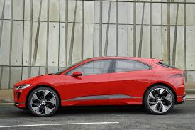 2018 jaguar red. fine 2018 2018 jaguar ipace u2013 red exterior rear side profile static in jaguar red