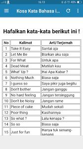 Kosa Kata Bahasa Inggris For Android Apk Download