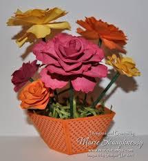 Paper Flower Pots Creative Crew Sweet Flowerpot Of Roses 3d Paper