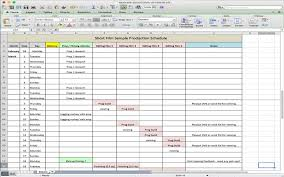Production Scheduling In Excel 5 Useful Microsoft Excel Templates For Indie Film Tv