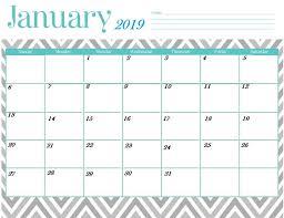 Printable January 2019 Calendar Latest Calendar