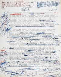 a manuscript page from j g ballard s crash wired jgballard crash originalmanuscript