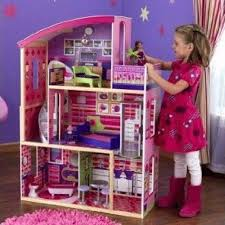 wooden barbie doll house furniture. Barbie Size Dollhouse Furniture Girls Playhouse Dream Play Wooden Doll House | EBay