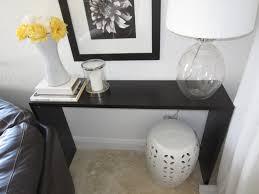 black console table diy