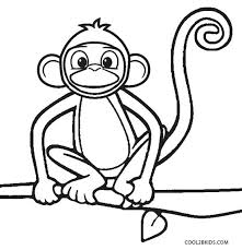 Small Picture Free Printable Monkey Coloring Pages for Kids Cool2bKids