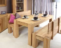 Nox Wood Dining Table Image 3  Medium Sized  Furniture Oak Table Bench