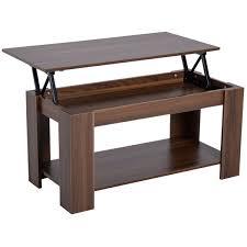 homcom coffee table 50 63h cm natural
