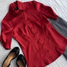 Iz Byer California Dress Size Chart Iz Byer California Deep Red Blouse Ruched Sleeves