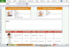 Excel Genealogy Templates Family Tree Template For Excel