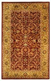 safavieh heritage hg644b red gold area rug