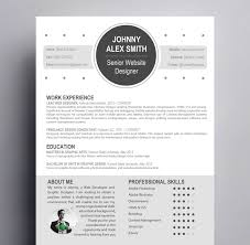 Modern Looking Font For Resume Modern Resume Template For Creative Careers Kukook