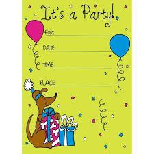 Sample Birthday Invitation Cards For Kids Birthdays Invitationfree