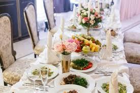 luxury wedding reception in restaurant