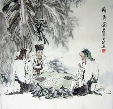 chinese painting three white hair old men chinese painting cnag241390 artisoo com