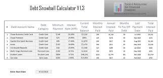 Online Debt Snowball Calculator Debt Snowball Calculator Excel Make Money Online