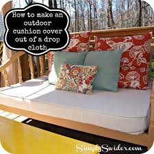 how to cover furniture. How To Make An Outdoor Cushion Cover From A Drop Cloth. You Can Buy One Furniture I