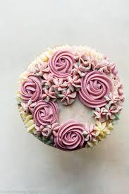 6 Inch Birthday Cake With Easy Buttercream Flowers Sallys Baking