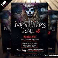 Halloween Flyers Templates Monsters Ball Halloween Flyer Template Dope Downloads