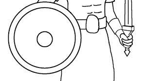 Roman Soldier Coloring Pages Free Page Helme Artigianelliinfo