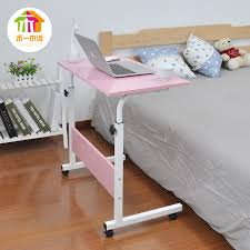 removable simple lift laptop table bed desk with mobile lazy table bedside computer desk
