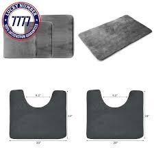 details about clara clark 3 pack bath mat set large small and contour bathroom rug set a