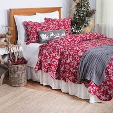Buy Holiday Quilts from Bed Bath & Beyond & Silver Mistletoe Reversible King Quilt in Red/Grey Adamdwight.com
