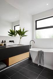 Epic Bathrooms With Black Tile 82 For Home Design Apartment with Bathrooms  With Black Tile