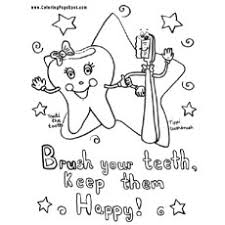 coloring pages of teeth. Exellent Pages Brush Your Teeth Daily Coloring Pages In Of D