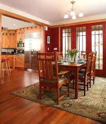 mission style cabinets dining room craftsman with area rug intended for rugs intende