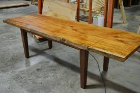 Dining Extension Table Hand Made Live Edge Slab Dining Table With Extensions By Corey