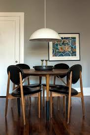 black leather 70 round dining tables that can totally transform any kitchen