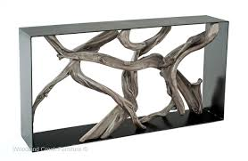 contemporary sofa tables. Marvelous Driftwood Console Table With Modern Contemporary Sofa Organic Tables