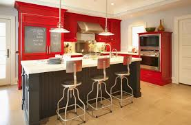 Red Wall Kitchen Small Kitchen Red Kitchen Cabinets Amazing Red Painted Kitchen