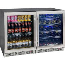 bar fridge beer wine combination quiet underbech yc150