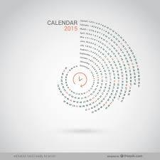 Circle Calendar Template Round 2015 Calendar Vector Free Download