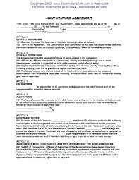 Free Joint Venture Agreement Template Joint Partnership Agreement Template 17