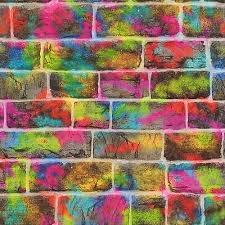 brick wall graffiti wallpaper rasch