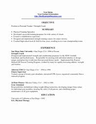 Personal Trainer Resume Sample New Cover Letter Example Examples