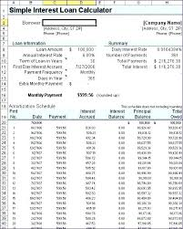 Personal Loan Amortization Schedule Excel Table Sample Schedules