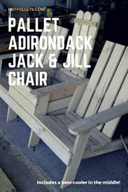 Adirondack Jack & Jill Chair from Pallets. Furniture Projects