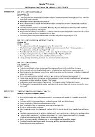 Big Data Developer Resume Samples Velvet Jobs