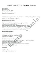 Child Care Worker Resume Dew Drops