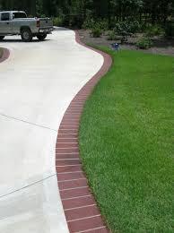 Brick Entrance Designs Driveway Brick Edging For The Driveway Driveway Design Brick