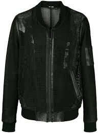 blk dnm collarless leather mesh like jacket black men clothing jackets