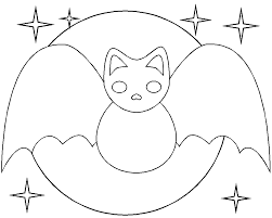 Small Picture Printable Bat Coloring Pages Fun for Halloween