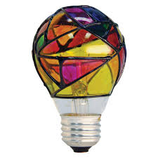 colored glass lighting.  Lighting GE 25Watt Incandescent A19 Stained Glass Light Bulb For Colored Lighting I